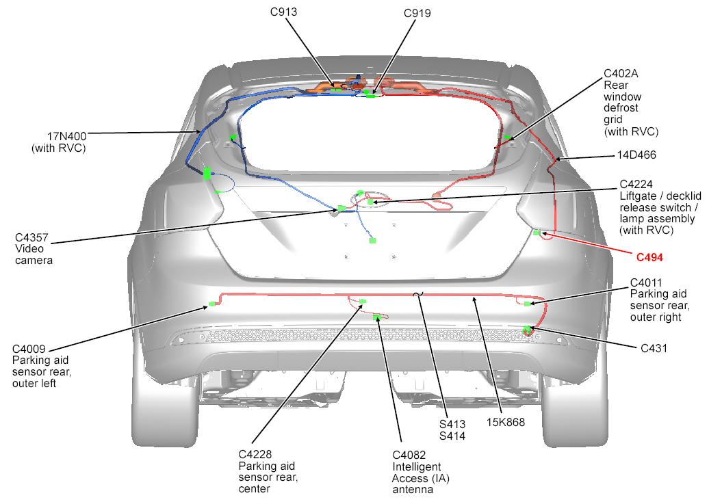 power ford focus backup camera wiring backup camera - oem install research ford f150 backup camera wiring diagram