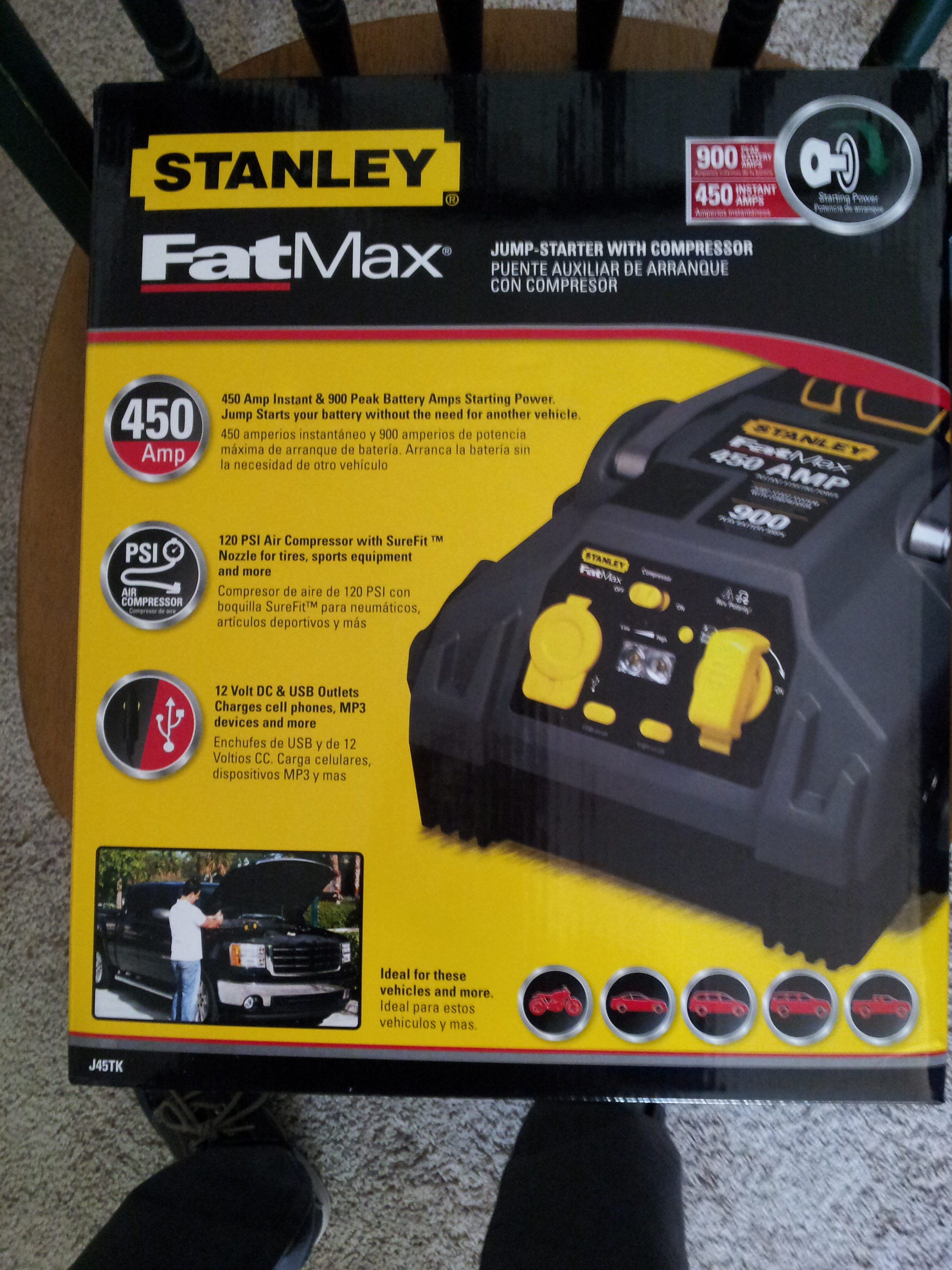 Stanley Fat Max Rechargeable Jumpercompressor Find