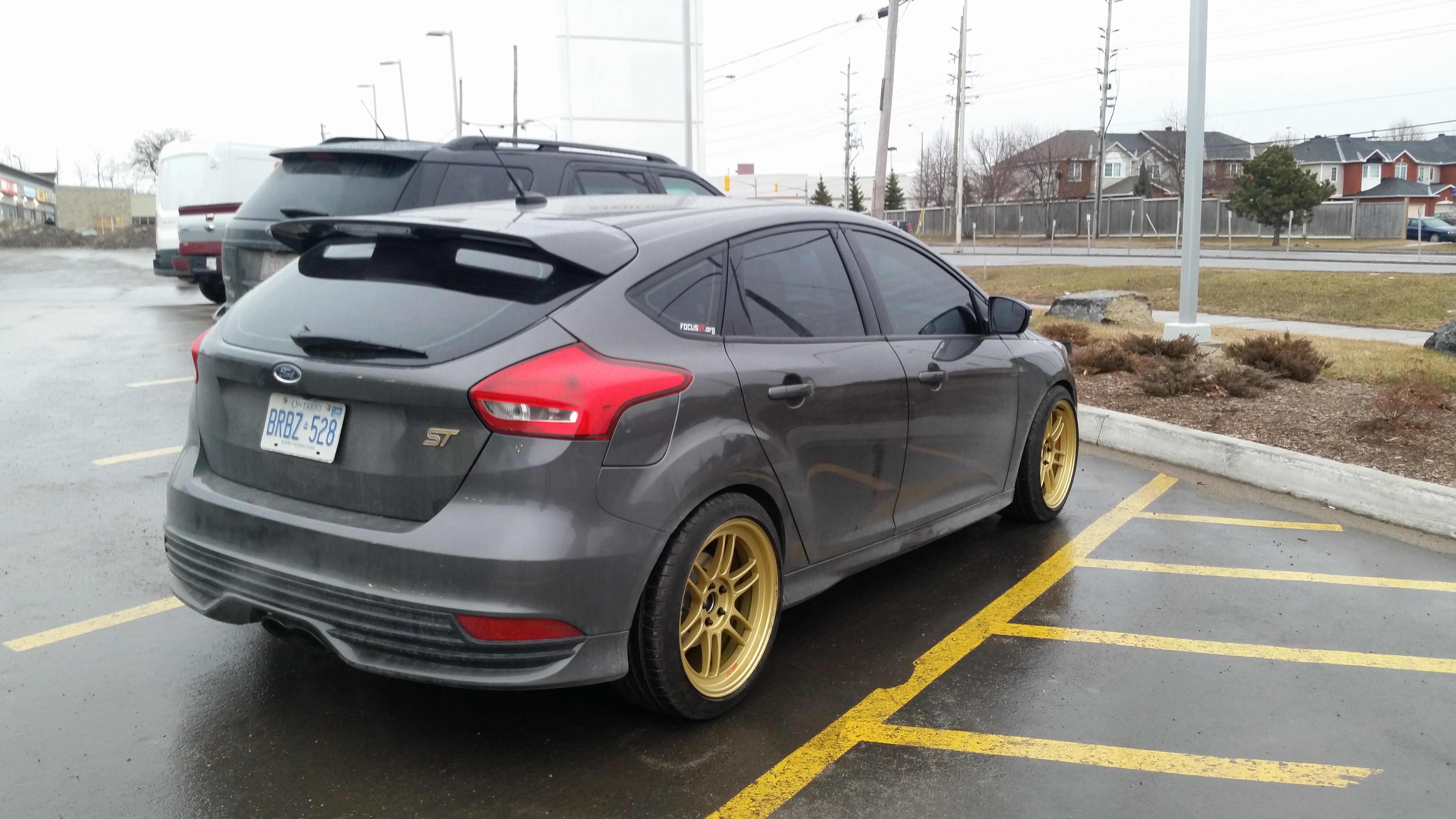 Fiesta St Forum >> 18x9 Gold Enkei RPF1's on 2015 Magnetic Metallic ST