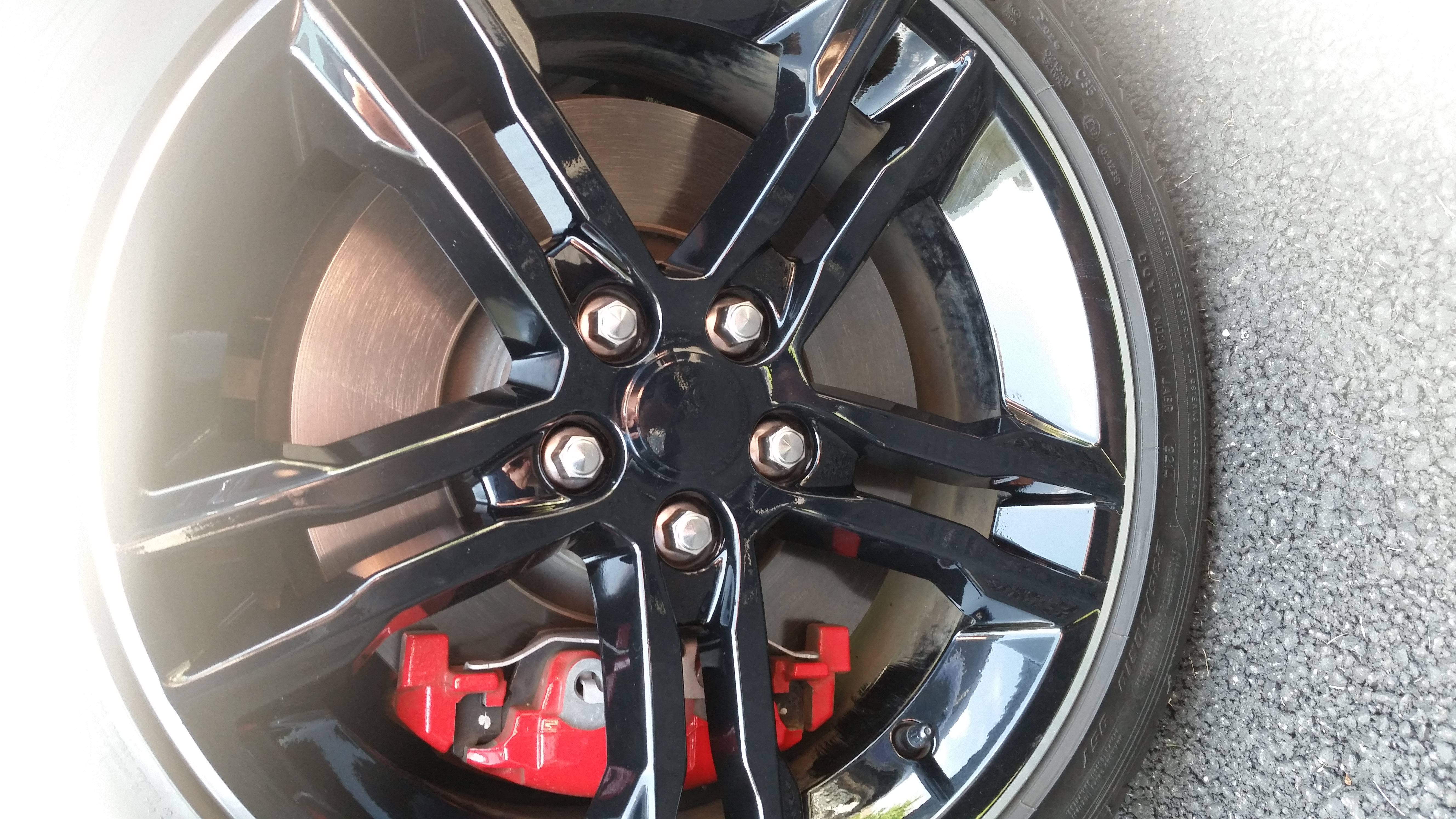 Focus St Tune >> Factory Premium Wheels - Gloss Black Vinyl Wrap