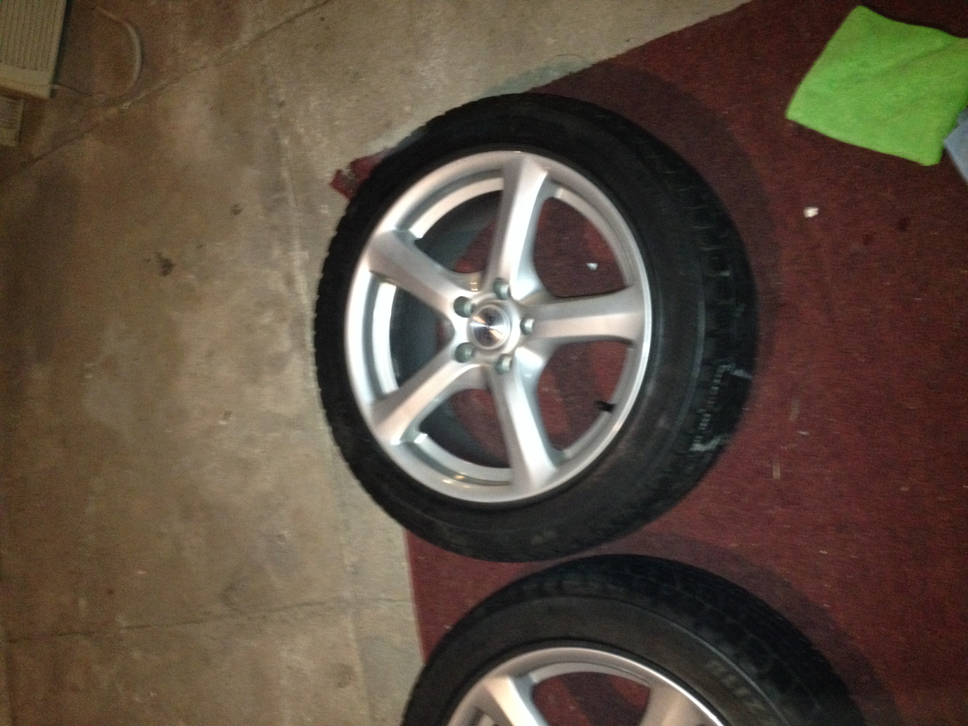 silver van hyper alloys wheels polished volvo rims wolf alloy design transit gtr