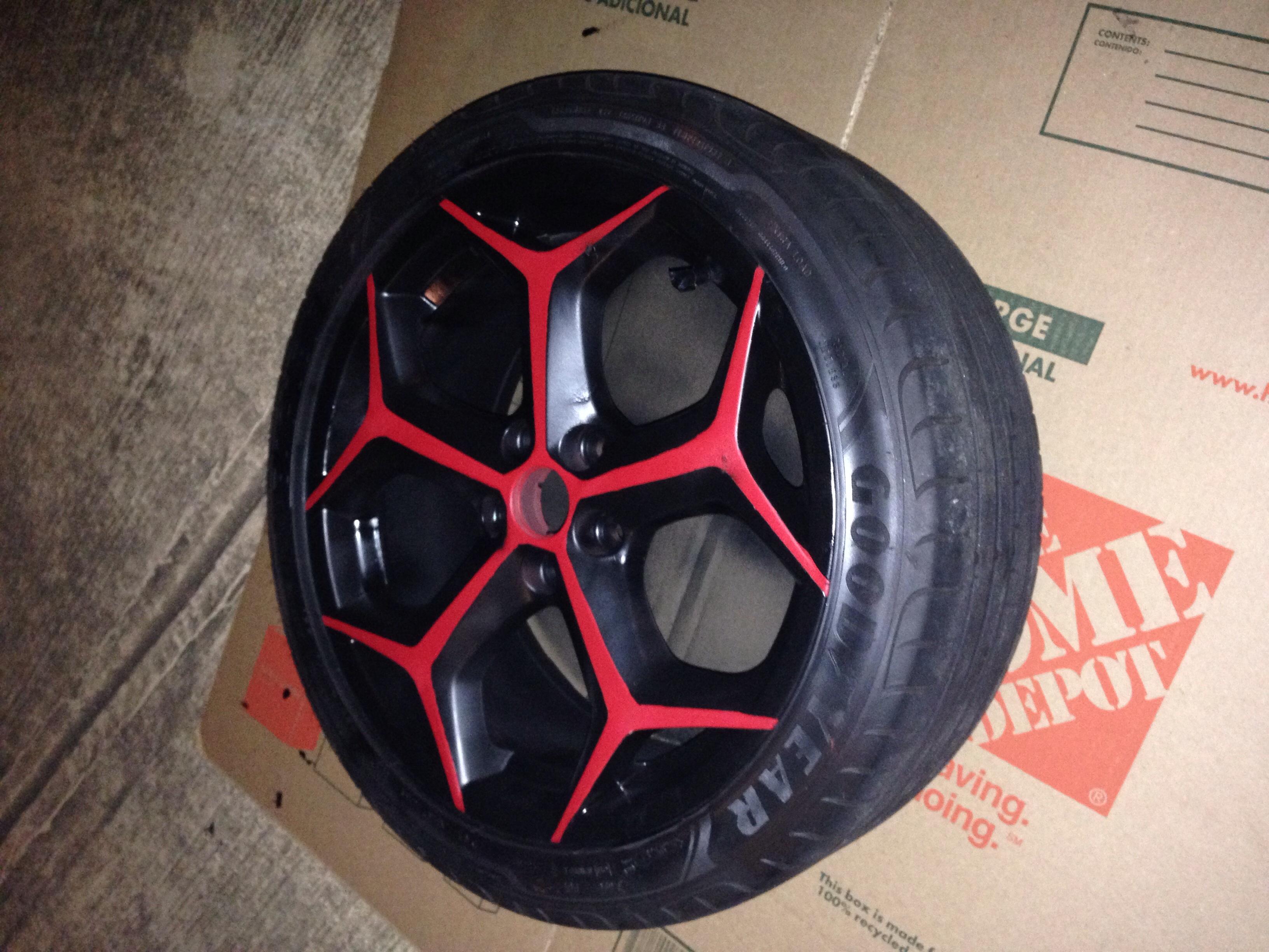 Custom two-tone plasti dipped OEM wheels - opinions?