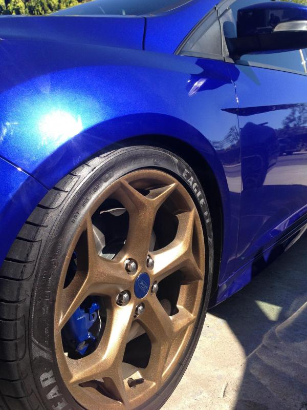 Stage 3 Mustang >> Bronze OEM rims! How To / Installed pics on my PB ST