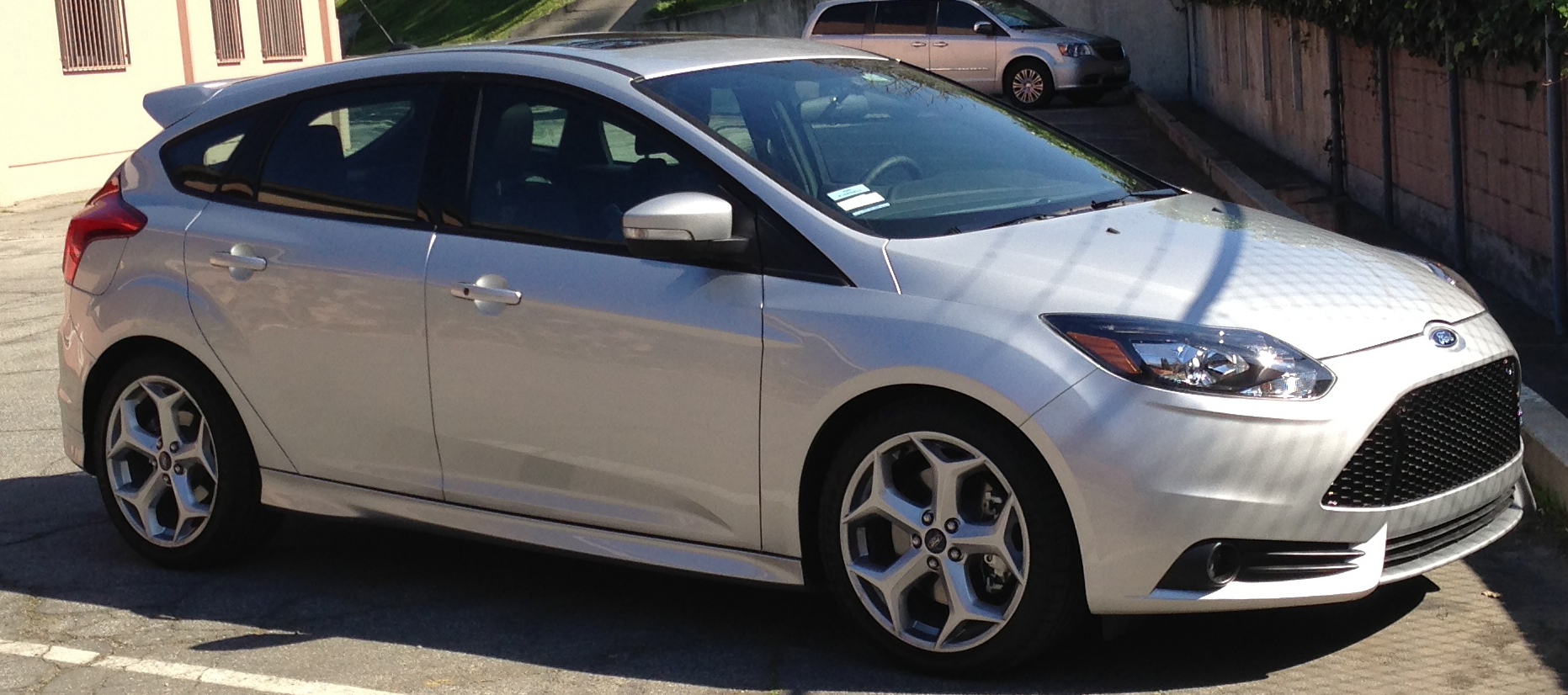 Silver 2013 ford focus st
