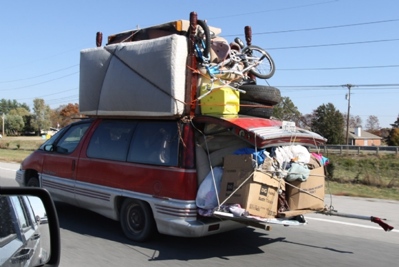 Image result for over packed van