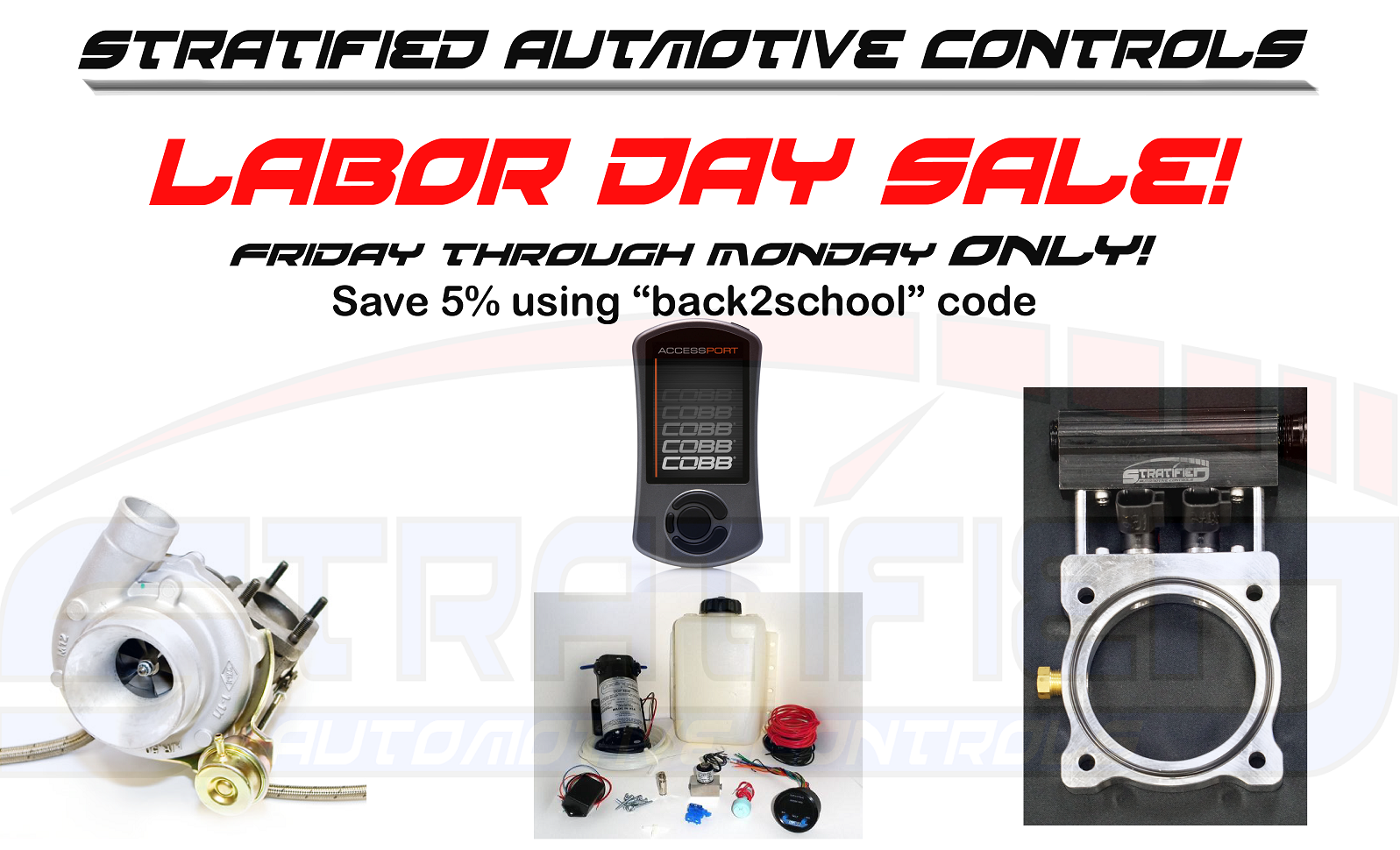Big Labor Day Sale at Stratified! - Mazdaspeed Forums