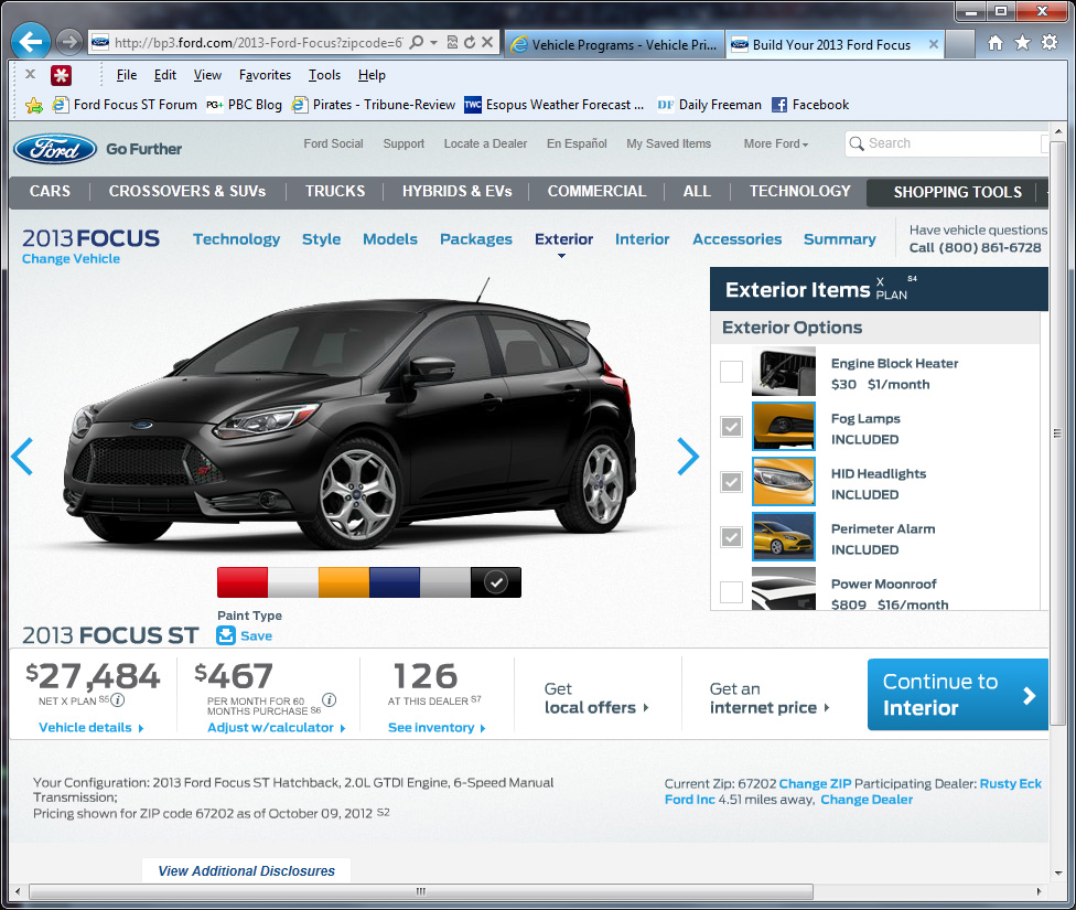 Ford X Plan Pricing >> Ford X Plan Pricing On The Focus St